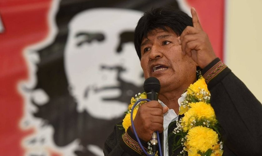 O presidenten Evo Morales pretende criminalizar o evangelismo na Bolívia. (Foto: Handout/Reuters)