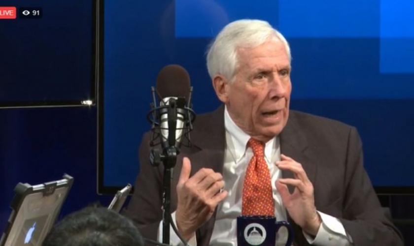 Frank Wolf participou de uma entrevista ao vivo sobre liberdade religiosa na última terça-feira, 16. (Imagem: Facebook)