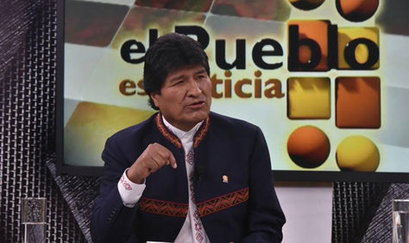 O presidente Evo Morales anunciou sua decisão no programa El Pueblo es Noticia, transmitido pela mídia estatal. (Foto: ABI)