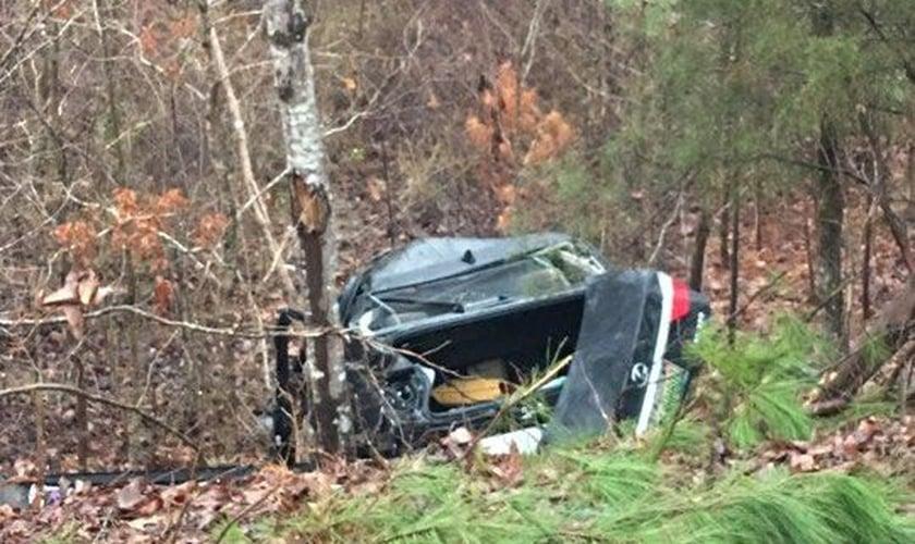 Lisa perdeu o controle do carro em uma curva no estado americano de Alabama. (Foto: Arquivo Pessoal)