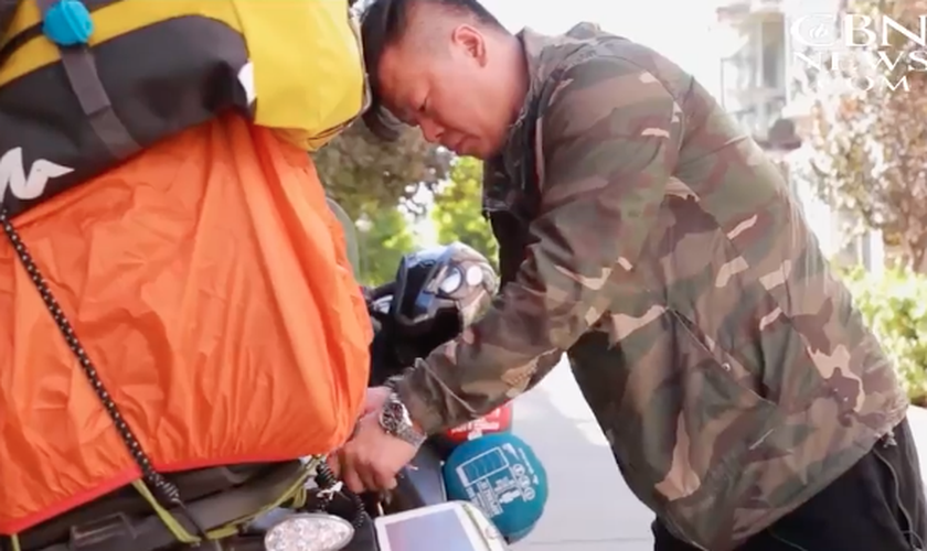 Meng Jing Hui percorreu dez cidades da China em duas semanas. (Foto: CBN News)
