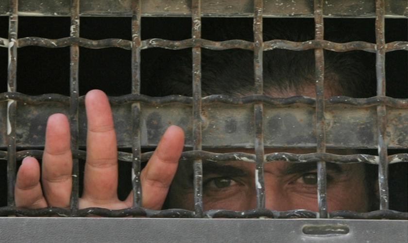 Prisioneiro palestino. (Foto: Worldbulletin)