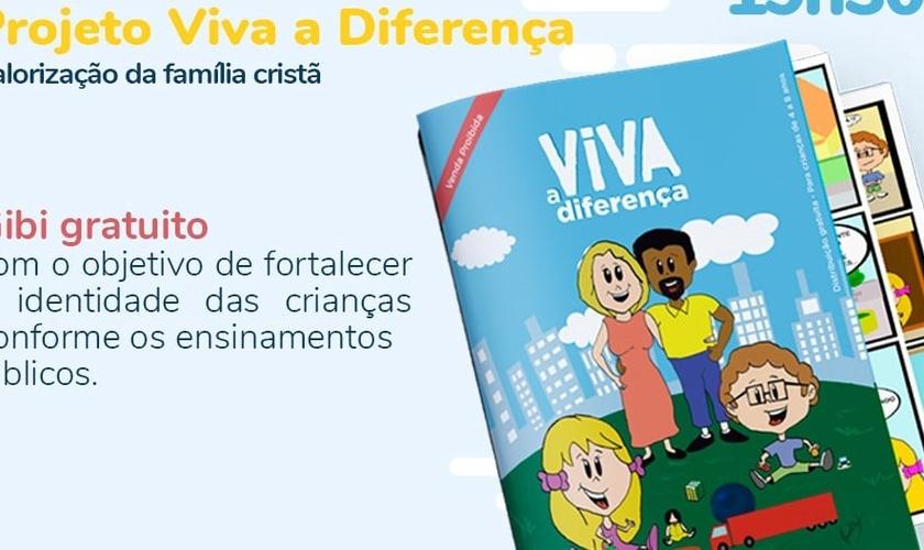 O projeto Viva a Diferença tem como objetivo ajudar pais e professores a ensinarem as crianças sobre o real conceito de identidade e gênero, conforme os princípios bíblicos. (Imagem: Viva a Diferença - Site oficial)