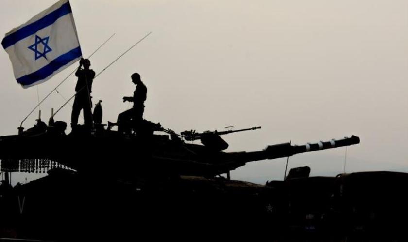 Brigada do Corpo Blindado Israelense durante um exercício no norte do país. (Foto: IDF Spokesperson's Unit)