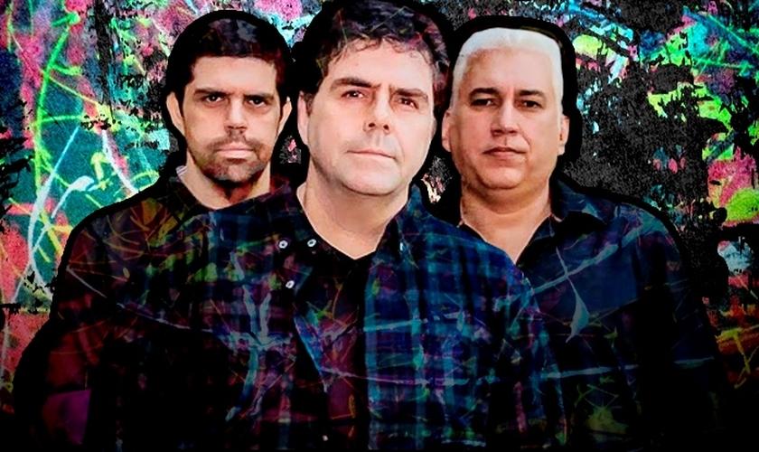 A Banda Catedral é formada por Kim, Júlio e Guilherme Morgado. (Foto: Reprodução).