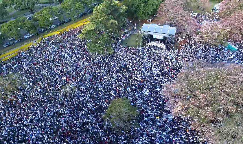 Mais de 200 cidades participaram da ação classificada como um evento histórico na Argentina. (Foto: Reprodução).