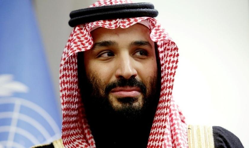 Príncipe herdeiro da Arábia Saudita, Mohammed bin Salman, na sede das Nações Unidas. (Foto: Reuters/Amir Levy)
