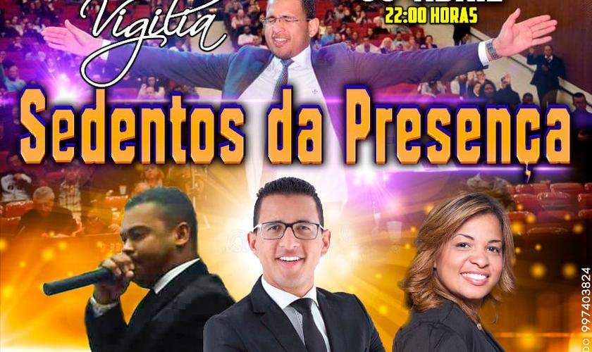 A vigília terá participação do pr. Raique Carmello, pr. Jessé Pires e da cantora Sabrina Morais. (Foto: Divulgação)