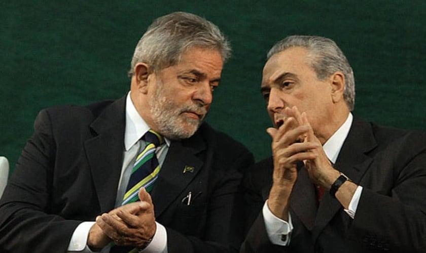 Lula e Temer. (Foto: clicrdc)