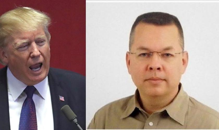 """Donald Trump declarou apoio ao pastor Andrew Brunson (direita), que está sendo julgado por """"terrorismo"""" na Turquia. (Imagem: Guiame)"""