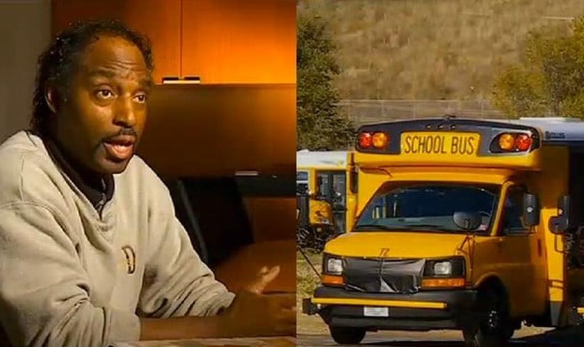 George Nathaniel (esquerda) é pastor e dirigia um ônibus escolar em Minnesota, EUA. (Imagem: Politically Depressed)