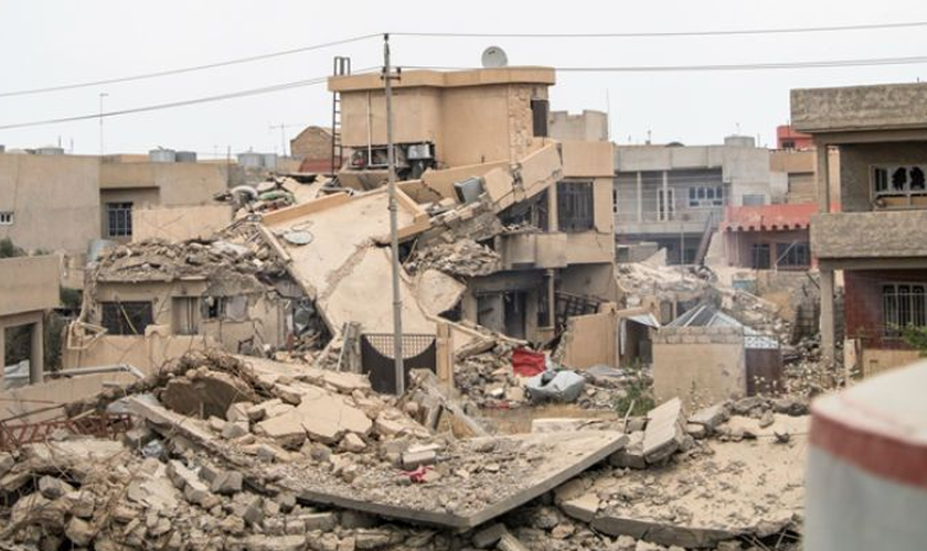 A notícia revela o que os iraquianos passaram sob o domínio do Estado Islâmico. (Foto: Reprodução).