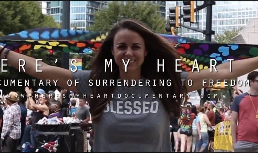 """Documentário """"Here's My Heart"""" conta os testemunhos de 12 ex-homossexuais que estarão na Marcha da Liberdade. (Imagem: Facebook)"""