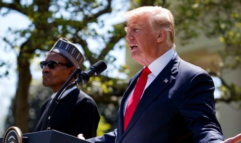 Presidente dos EUA, Donald Trump e o presidente nigeriano Muhammadu Buhari. (Foto: Reuters)