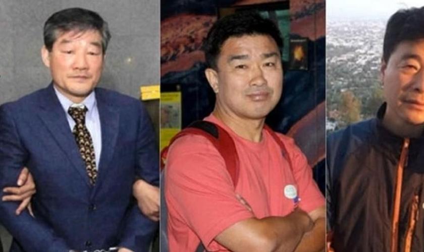 Da esquerda para a direita: Kim Dong-chul, Kim Sang-duk e Kim Hak-song. (Foto: CBN News)