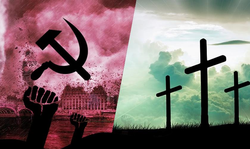 Comunismo e Cristianismo. (Foto: Instituto Liberal)