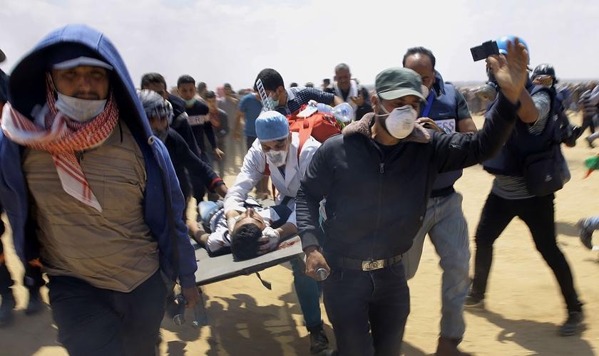 Os palestinos estão sendo convocados desde o dia 30 de março pelo movimento Hamas. (Foto: Reprodução).