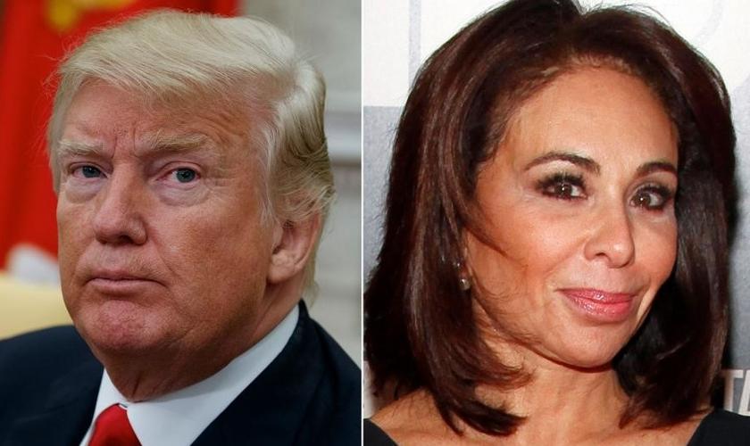 Donald Trump (esquerda) e a juíza Jeanine Pirro (direita). (Imagem: CBN News)
