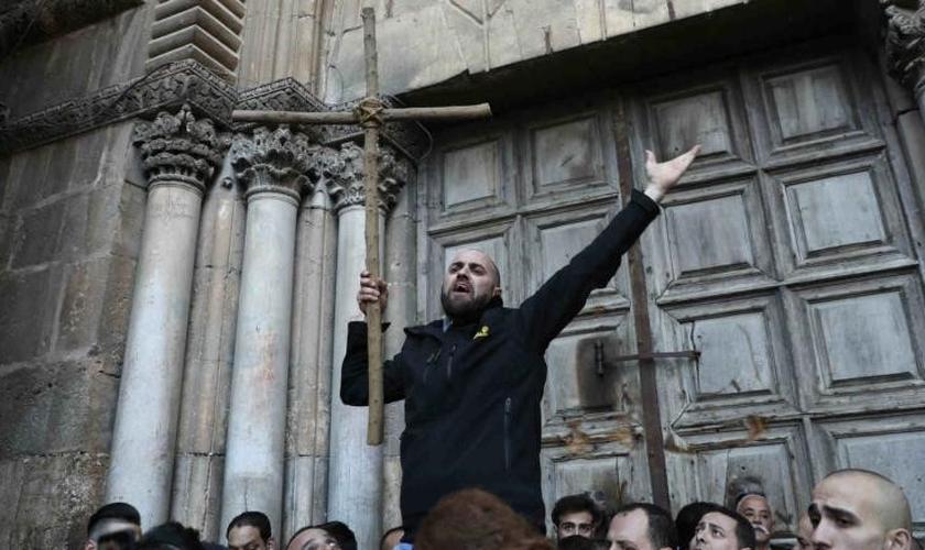 Cristãos reivindicam direitos em Gaza. (Foto: Reuters)
