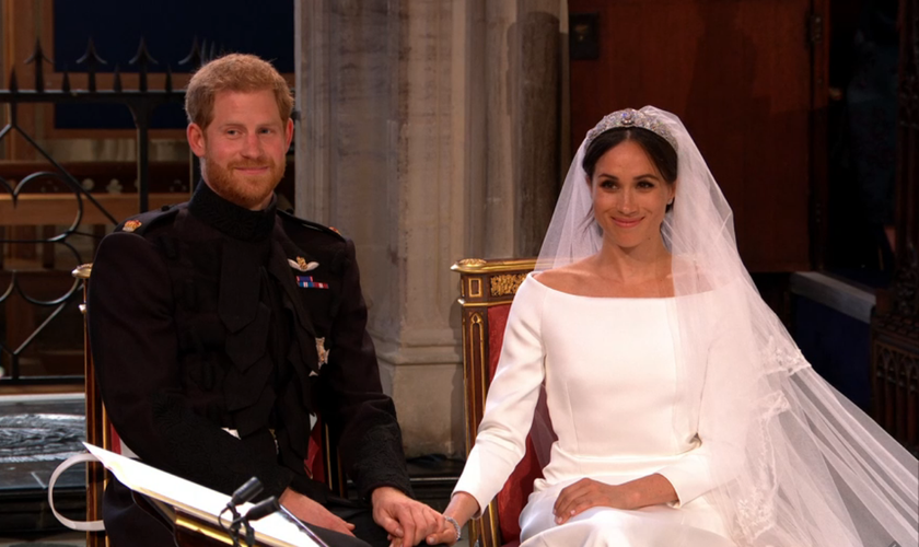 Casamento real do Príncipe Harry e Meghan Markle. (Foto: BBC).
