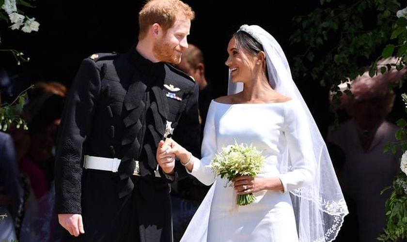 Príncipe Harry e Meghan Markle se casaram no último sábado. (Foto: Getty Images)