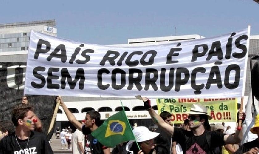 Protsto contra a corrupção. (Foto: Getty)