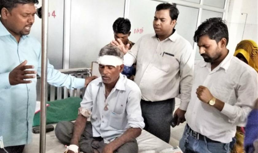 Um membro da igreja, de 55 anos, foi espancado até ficar inconsciente. (Foto: Reprodução).