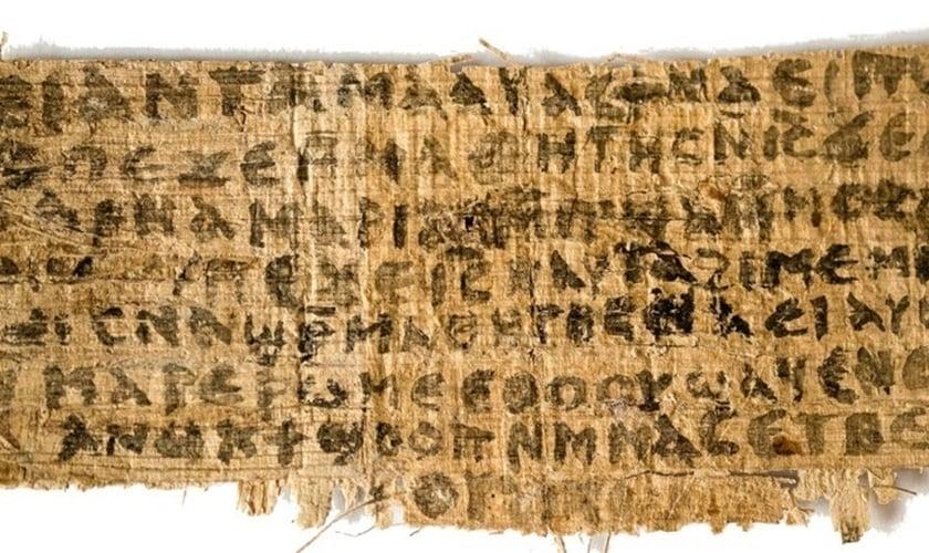 Antigo fragmento do Evangelho de Marcos foi oficialmente datado. (Foto: Sociedade de Exploração do Egito)