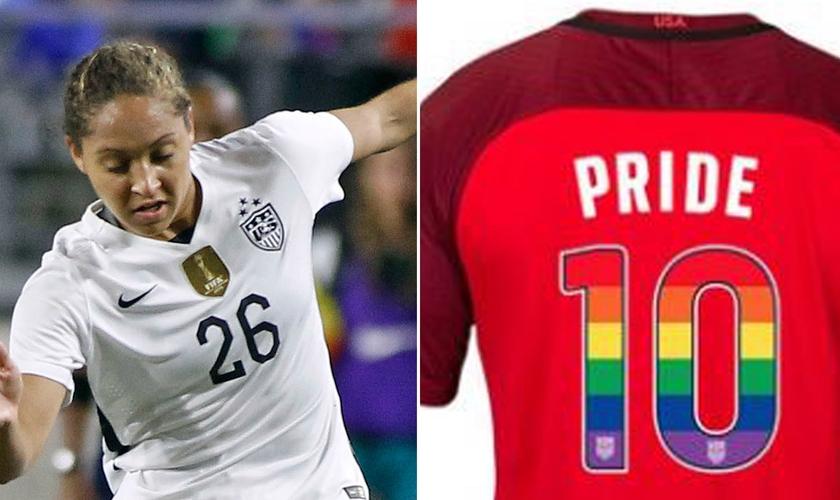 Jaelene Hinkle se retirou da seleção dos EUA em 2017, após o time decidir apoiar o orgulho gay. (Imagem: New York Post)