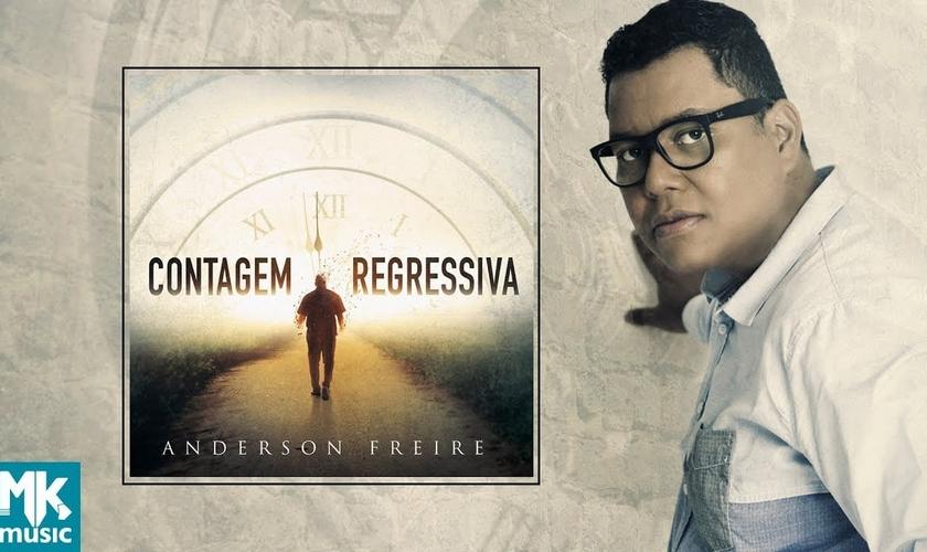 """""""Contagem Regressiva"""" traz 12 faixas compostas por Anderson Freire. (Foto: Reprodução)."""