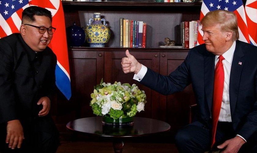 Trump tem encontro histórico com Kim Jong-un em Cingapura. (Imagem: Fox News)