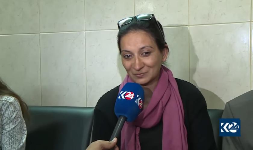 Rita foi levada pelo Estado Islâmico para ser vendida como escrava sexual. (Foto: Reprodução).