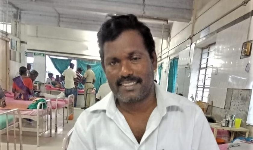 O pastor foi atacado por 20 hindus radicais. (Foto: Morning Star News).