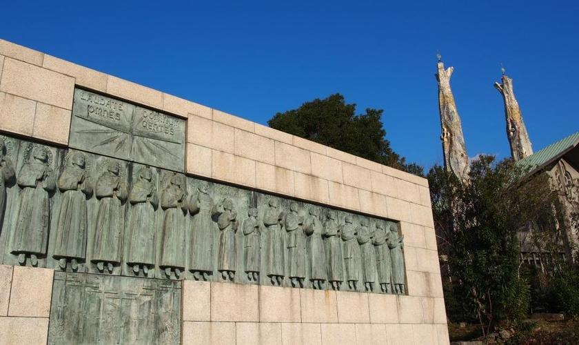 Museu e Monumento dos Vinte e Seis Mártires na cidade de Nagasaki, no Japão. (Foto: Turismo de Nagasaki)