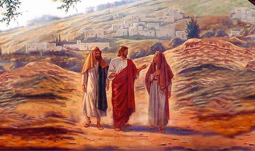 Jesus a caminho de Emaús. (Foto: CEBI-ES - Blogger)