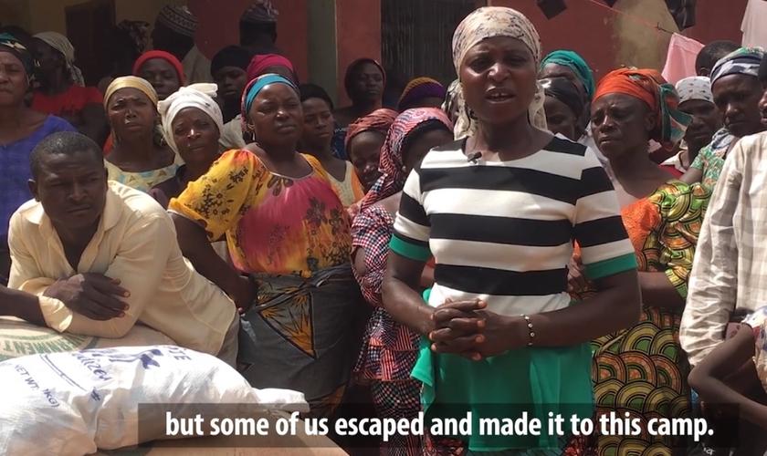 Mary Dung fala em vídeo da Missão Portas Abertas sobre a situação dos cristãos que sobreviveram aos ataques dos Fulani, grupo terrorista nigeriano. (Foto: Missão Portas Abertas/EUA)