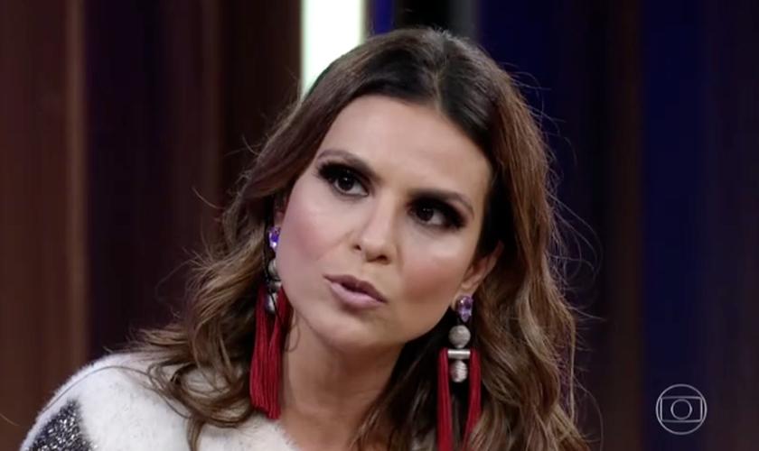 A cantora Aline Barros falou sobre homossexualidade, feminismo, política e música. (Foto: Reprodução/Globo)
