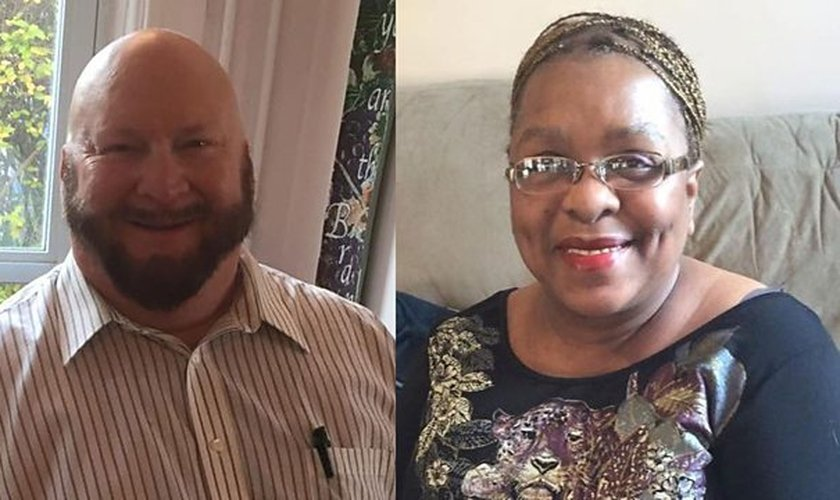 Duke Schneider (esquerda) e Katherine (direita) hoje estão casados, após uma caminhada de muita fé e oração. (Foto: BBC)