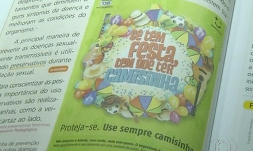 Em 2016 a prefeitura de Palmas vetou o uso de material didático que promovia a ideologia de gênero. (Foto: Reprodução/TV Anhanguera).