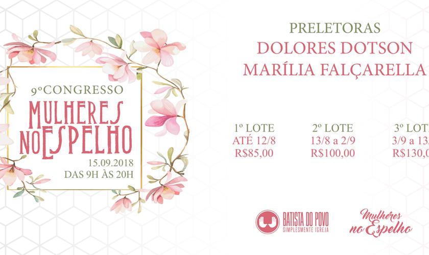 O 9º Congresso Mulheres no Espelho será realizado em São Paulo, no dia 15 de setembro de 2018. (Imagem: Divulgação)