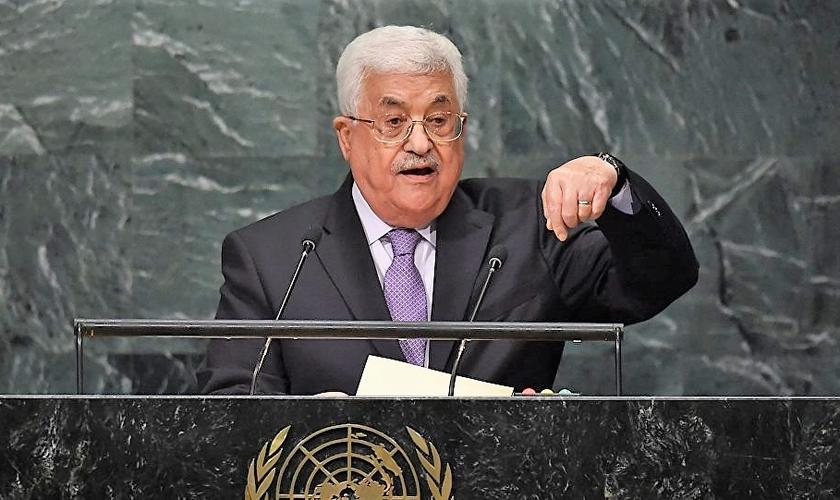 Presidente da Autoridade Palestina, Mahmoud Abbas, discursa na ONU. (Foto: Sputnik Brasil)