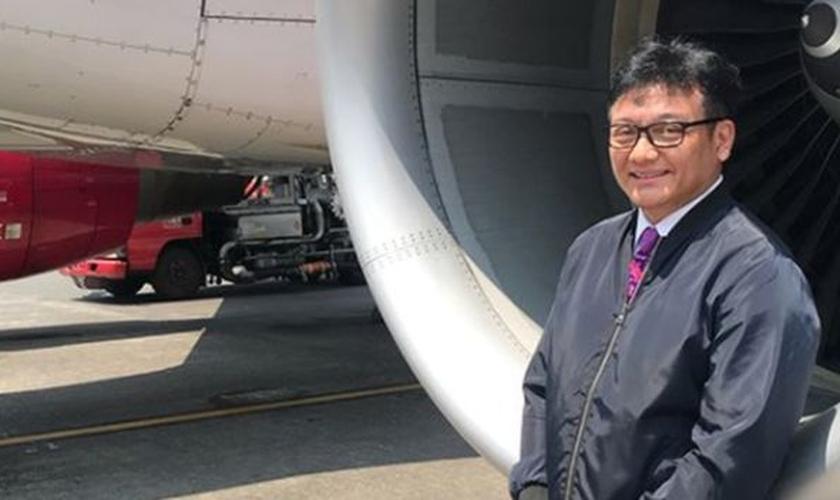 O piloto Ricosetta Mafella salvou 140 passageiros após ouvir a voz de Deus. (Foto: Arquivo Pessoal)