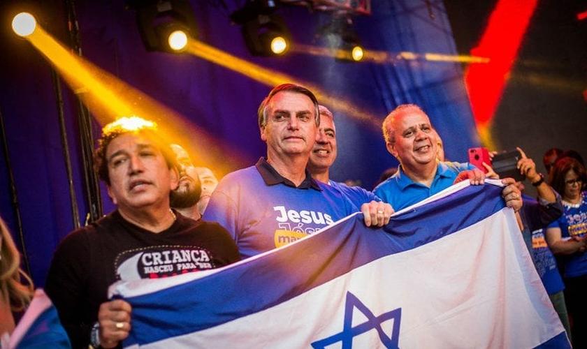 O candidato à Presidência Jair Bolsonaro (PSL) na 26° Marcha para Jesus em São Paulo. (Foto: Alexssandro Loyola)