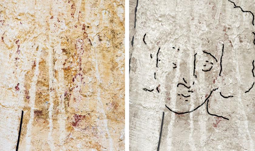 A pintura foi descoberta nas ruínas de Shivta, formalmente na vila agrícola bizantina no deserto de Negev, em Israel. (Foto: Dror Maayan)