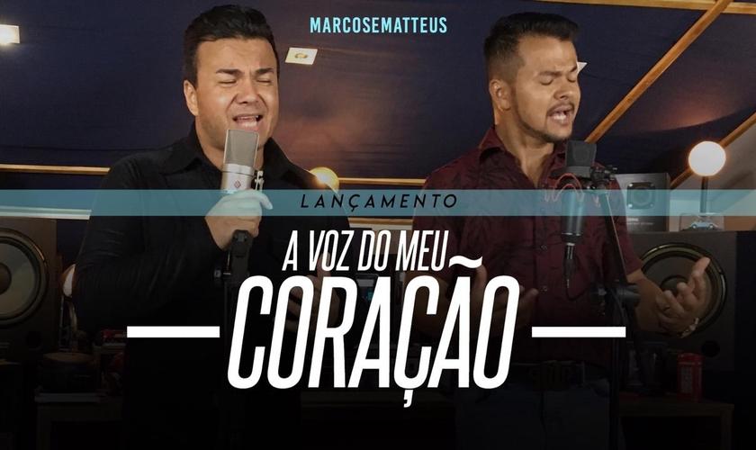 Marcos e Matteus esperam que a música alcance corações e seja mais um sucesso abençoando vidas. (Foto: Divulgação).