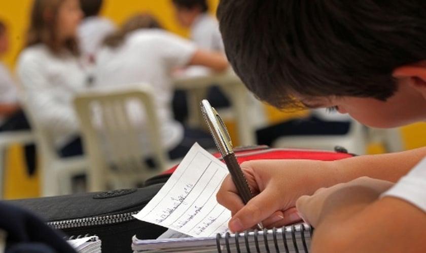 Imagem ilustrativa. Aluno do Colégio Vértice, em São Paulo. (Foto: Juca Varella/Folhapress)