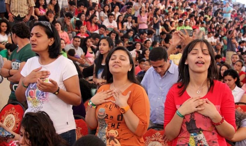 Cristãos participam de culto no Egito - foto ilustrativa, por razões de segurança. (Imagem: Missão Portas Abertas - EUA)