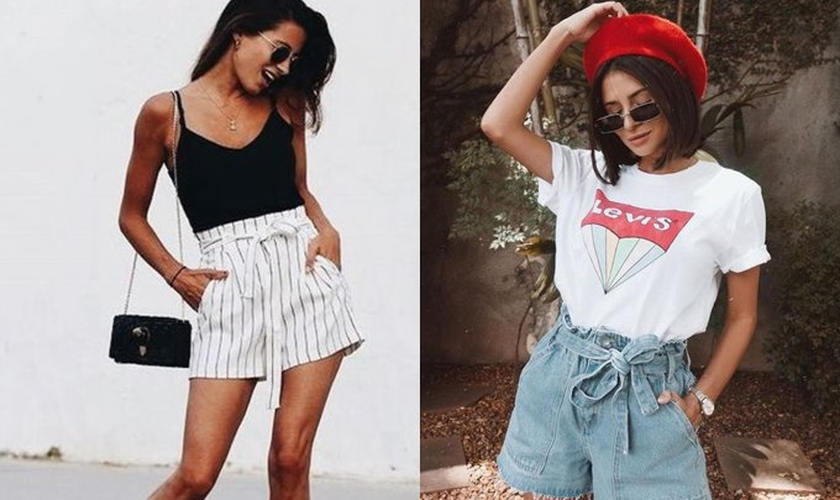 Cinturados e fresquinhos, os shorts são tendência para primavera/verão. (Foto: Reprodução/Pinterest)