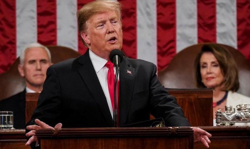 Trump faz o seu discurso do Estado da União de 2019. (Foto: Fox News)