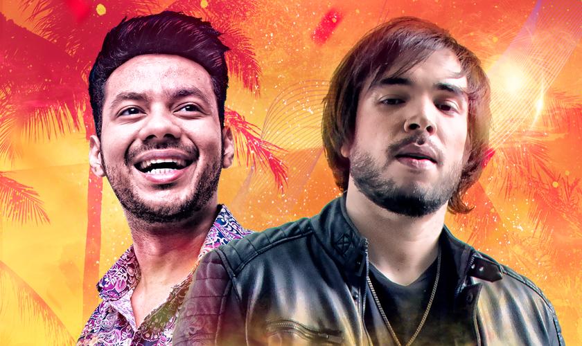 O cantor sertanejo Lobato (esquerda) participou do novo single do DJ MP7 (direita). (Imagem: Divulgação)